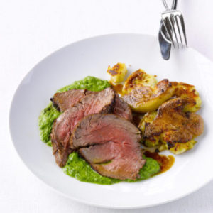 Beef Tenderloin with Salsa Verde